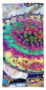 Neon Mushroom Beach Sheet
