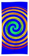 Neon Spiral Blue Beach Towel