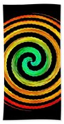 Neon Spiral Beach Towel
