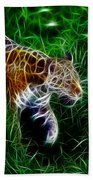 Neon Tiger Beach Towel