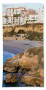 Nerja Town On Costa Del Sol Beach Towel