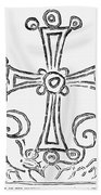Nestorian Cross, 781 A.d Beach Towel