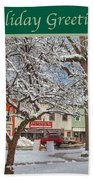 New England Christmas Beach Towel by Joann Vitali
