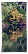New England Fall Reflection Beach Towel