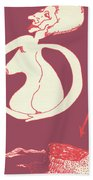 New Mexico Moon Rose Beach Towel