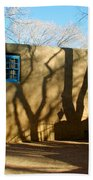 New Mexico Series - Shadows On Adobe Beach Towel