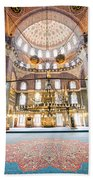 New Mosque Interior In Istanbul Beach Towel