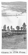 New Orleans, 1719 Beach Towel