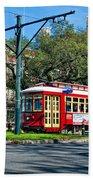 New Orleans Streetcar 2 Beach Towel