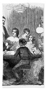 New Years Party, 1857 Beach Towel