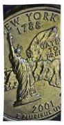 New York 2001 Beach Towel