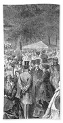 New York: Bandstand, 1869 Beach Towel