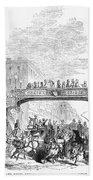 New York: Broadway, 1852 Beach Towel
