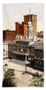New York City Hall - 1900 Beach Towel