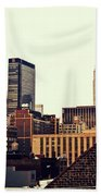 New York City Rooftops And The Empire State Building Beach Towel