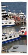 New York City Sightseeing Boats Beach Towel