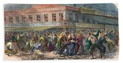 New York: Draft Riots 1863 Beach Towel