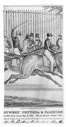 New York: Horse Race, 1845 Beach Towel
