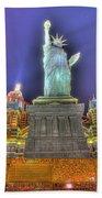 New York In Las Vegas Beach Towel by Nicholas  Grunas