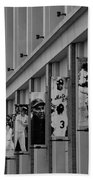 New York Mets Of Old  In Black And White Beach Towel