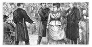 New York Police Raid, 1875 Beach Towel