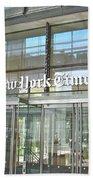 New York Times Reflection Beach Towel