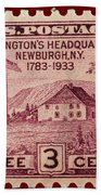 Newburgh Ny Postage Stamp Beach Towel