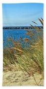 Newport Bay In Oregon Beach Towel
