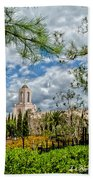 Newport Beach Temple Pine Beach Towel
