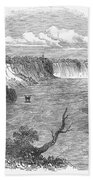 Niagara Falls, 1849 Beach Towel