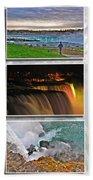 Niagara Falls Usa Triptych Series Beach Towel