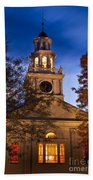Night Church Beach Towel