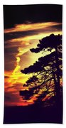 Night Falls Beach Towel