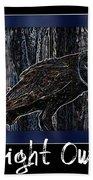 Night Owl Poster - Digital Art Beach Towel