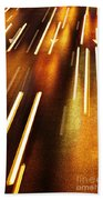 Night Traffic Beach Towel by Carlos Caetano