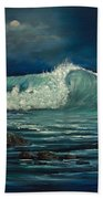 Night Wave Beach Towel