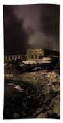 Nightfall Over Hard Time - San Quentin California State Prison - 5d18454 - Partial Sepia Beach Towel