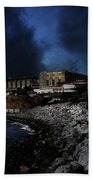 Nightfall Over Hard Time - San Quentin California State Prison - 5d18454 Beach Towel