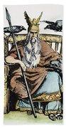 Norse God Odin (woden) Beach Towel