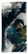 North Atlantic Bloom Beach Towel by Science Source