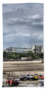 North Beach From Tenby Harbour Beach Towel