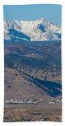 North Boulder Colorado Front Range View Beach Towel