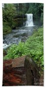 North Falls In Oregon Beach Towel