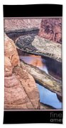 North Side Of Horseshoe Bend Beach Towel