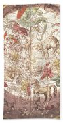 Northern Boreal Hemisphere From The Celestial Atlas Beach Towel by Pieter Schenk