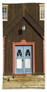Norwegian Wooden Facade Beach Sheet