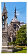 Notre Dame Cathedral Backside Beach Towel