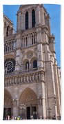 Notre Dame Cathedral Paris France Beach Towel