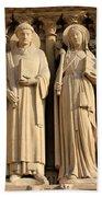 Notre Dame Details 1 Beach Towel