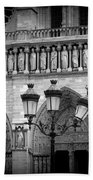 Notre Dame With Luminaires Beach Towel
